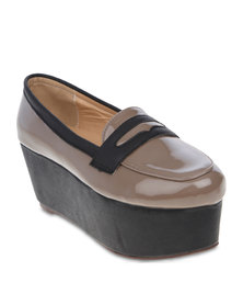 Linx Flatform Loafers Coffee Brown