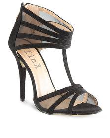 Linx Mesh Panel Heels Black