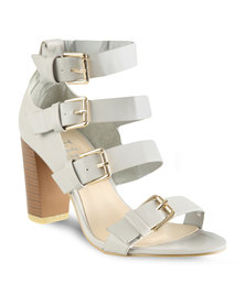 Linx Multi Buckle Sandals Grey