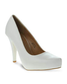 Linx Pointy Heels White