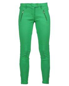 Linx Fan Stretch Pants Green