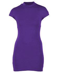 Linx Wendy Turtle Neck Dress Purple