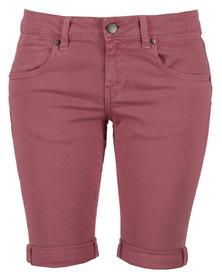 Linx Slim Stretch Shorts Pink