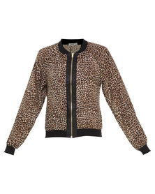 Linx Animal Printed Bomber Jacket Multi