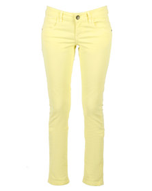 Linx  Stretch Solid Style Slim Jeans Yellow