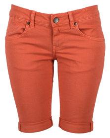 Linx Slim Stretch Shorts Red