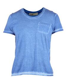 Linx Cold Pigment Crew-Neck T-Shirt Blue