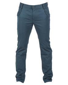 Linx Slim Utility Cargo Pants Blue