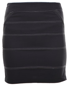 Linx Poplin Pencil Skirt Black