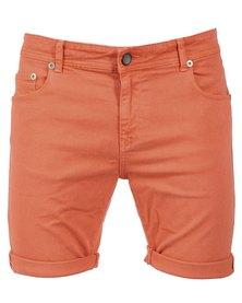 Linx Slim Stretch Shorts Orange