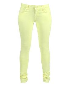Linx Neon Jeans Yellow