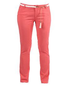 Linx Ladies Stretch Pants Red