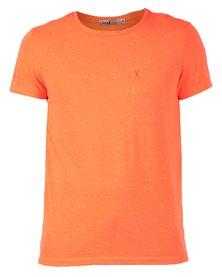 Linx Crew Neck Melange Knit Orange