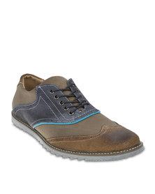 Linx Colourblock Casual Shoes Khaki
