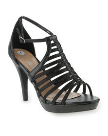 Linx Strappy Platform Heels Black