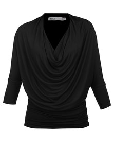 Linx Cowl Neck Tunic Black