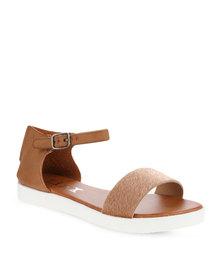 Linx Ankle Strap Sandals Tan