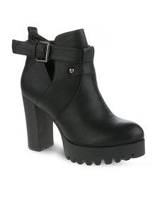 Linx Platform Ankle Boots Black