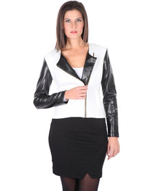 Linx Biker Jacket White