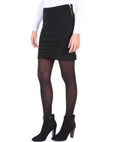 Linx Bubble Wrap Mini Skirt Black