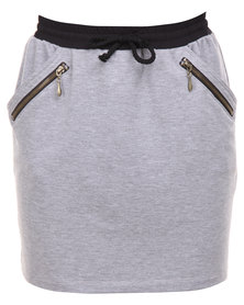 Linx Fleece Mini Skirt Grey