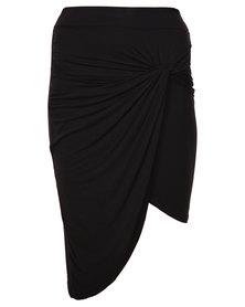 Linx Knot Pencil Skirt Black