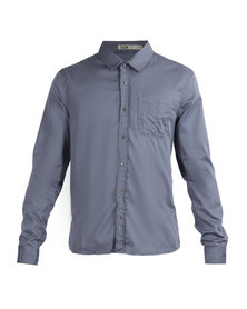 Linx High Density Long-Sleeved Twill Shirt Blue
