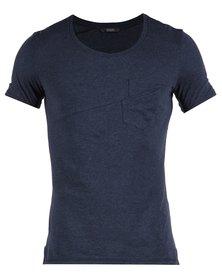 Linx Engineered Panel T-Shirt Blue