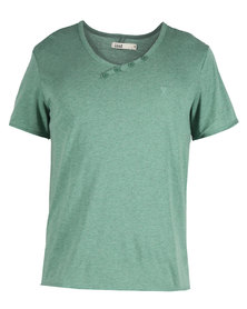 Linx Styled V-Neck T-Shirt Green