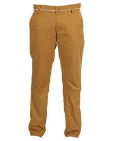 Linx Slim Fit Pants Ochre Yellow