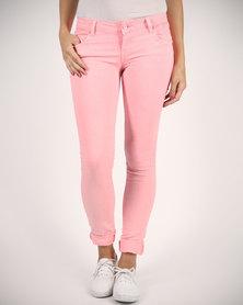 Linx Neon Jeans Pink