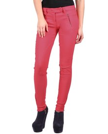 Linx Fan Stretch Pants Coral