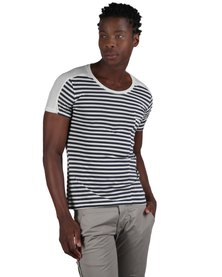 Linx Panelled Stripe T-Shirt Blue