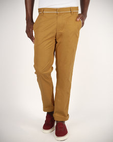 Linx Slim Fit Pants Ochre Yellow