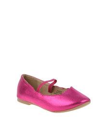 Little Miss Footwork Darling Ballerina Pump Pink