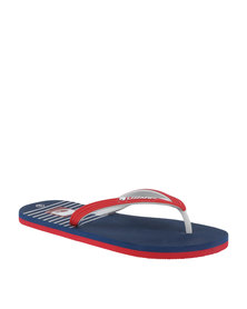 Lizzard Cove Flip Flop Red/Navy