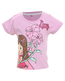 Lizzy Kitty-Tot Girls Basic S/S Tee Lilac