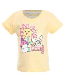 Lizzy Puffy-Tot Girls Basic S/S Tee Yellow