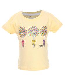 Lizzy Eve Basic Short Sleeve Tee Light Yellow