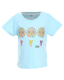 Lizzy Eve Basic Short Sleeve Tee Light Blue