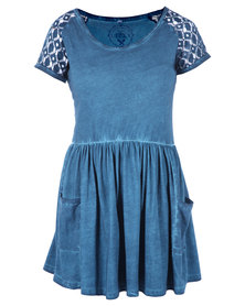 Lizzy Clementine Dress Blue