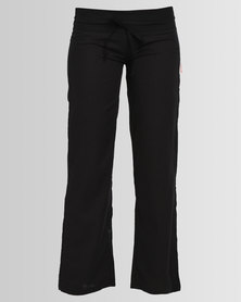Lizzy Twizzler Ladies Elasticated Trousers Black