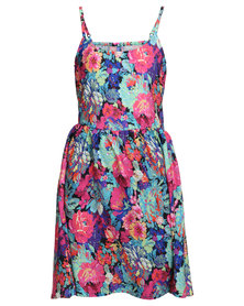 Lizzy Flowerama Dress Multi-Coloured