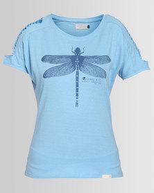 Lizzy Leni Ladies Styled T-Shirt Blue