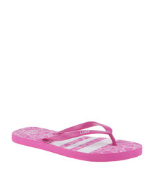 Lizzy Fossil Flip Flop Pink/White