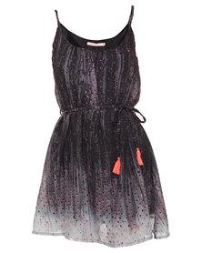 Lizzy Rhine Drop Dress Black/Grey