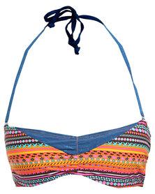 Lizzy Glynis Bikini Top Navy/Multi