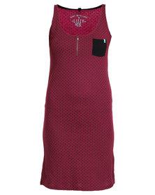 Lizzy Baso Dress Maroon
