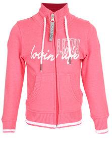 Lizzy Caper Fleece Top Pink