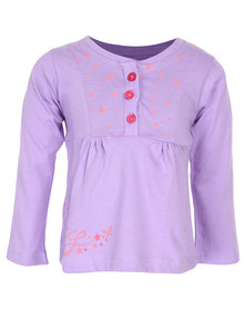 Lizzy Lilady Long Sleeve Tee Lilac
